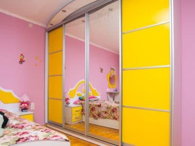Шкаф-Купе в Детскую комнату с Подсветкой