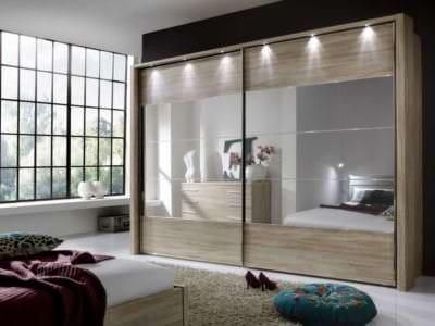 Шкаф-Купе в спальную комнату Подвесная система+Подсветка