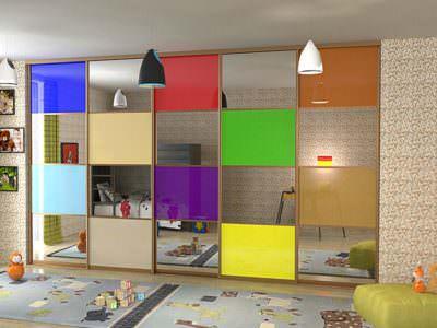 Шкаф-Купе в Детскую комнату цветной