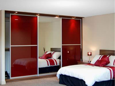 Шкаф-Купе с подсветкой в спальную комнату Oracal+Зеркало